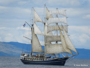 Photo: Dutch Barquentine Thalassa off Arran en route from Cambeltown to Troon