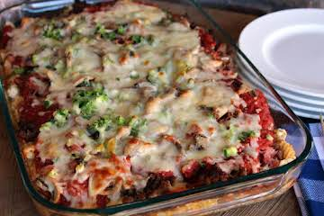 Lori's Creamy Pizza Casserole