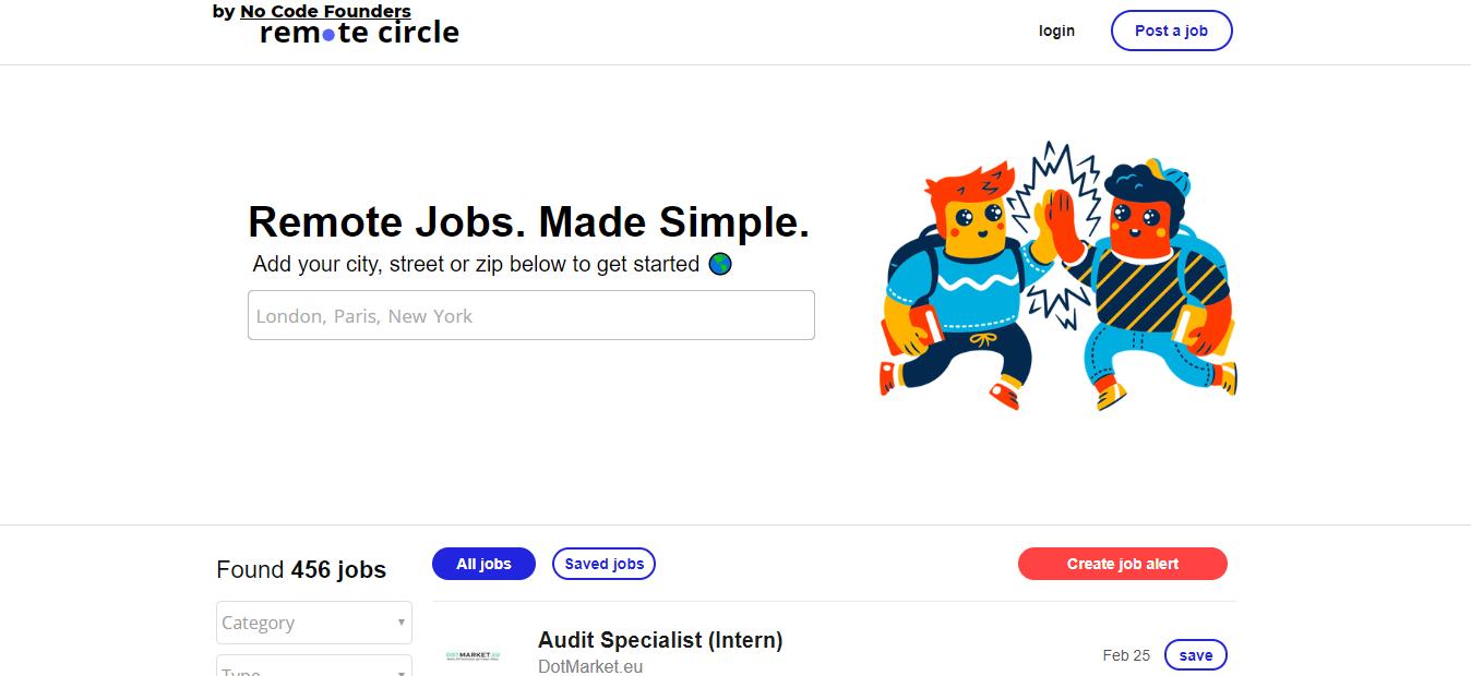 Remote Circle - Remote Jobs Website
