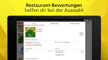 Screenshot of pizza.de - order food online