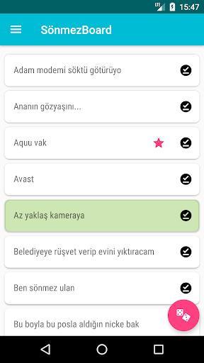 SönmezBoard: Sönmez Dayı Replikleri 1.0.64 screenshots 1