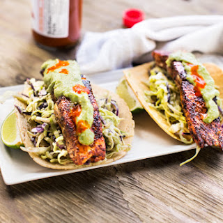 GRILLED SALMON TACOS