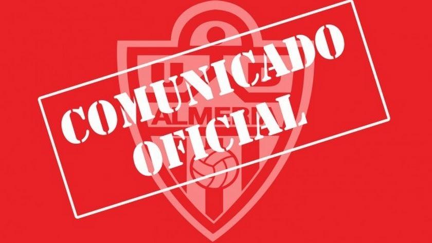 El Almería acaba de emitir un comunicado respecto a la situación.