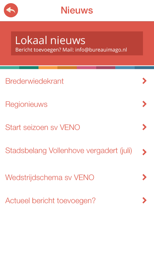 Vollenhove app- screenshot