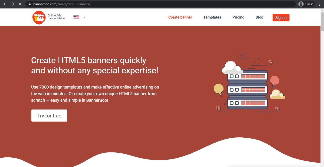 Bannerboo landing page