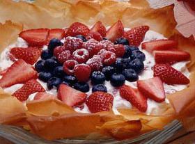 Crisp Phyllo Petals With Berries Recipe