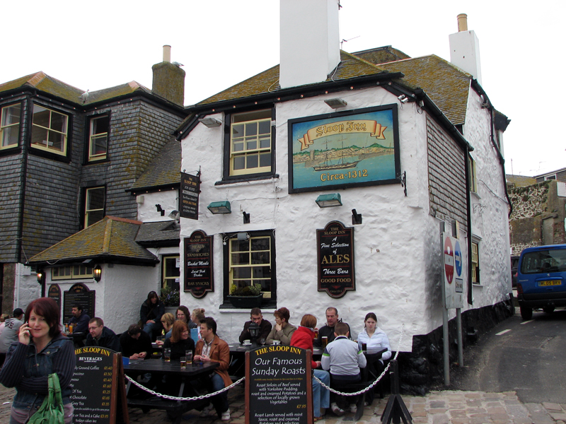 Photo: Sloop Inn - also us going to St Ives was a sort of literary tour, with connections to Rosamunde Pilcher this time