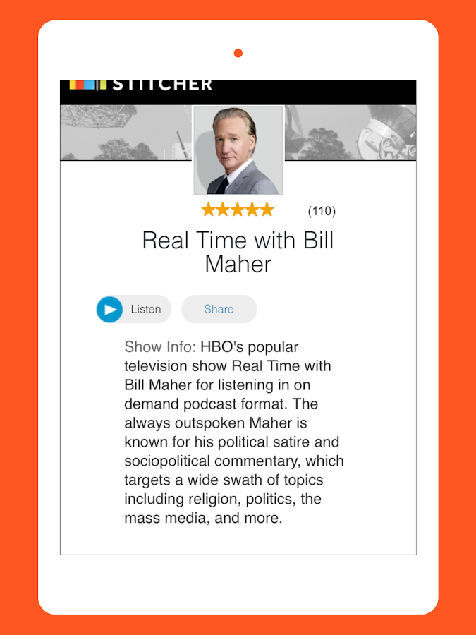 The IAm Bill Maher App- screenshot