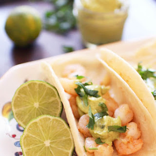 Shrimp Tacos With Avocado Puree For One