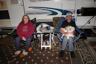 Photo: A couple enjoys some RV camping at Fort Dummer State Park
