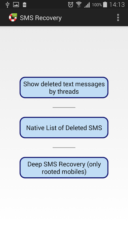 SMS Recovery Pro- screenshot