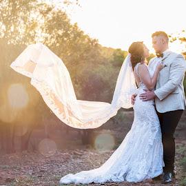 Sunset love by Junita Fourie-Stroh - Wedding Bride & Groom ( wedding photography, wedding day, wedding, photographer, wedding dress, wedding photographer, bride and groom, bride, destination wedding photographers, groom )