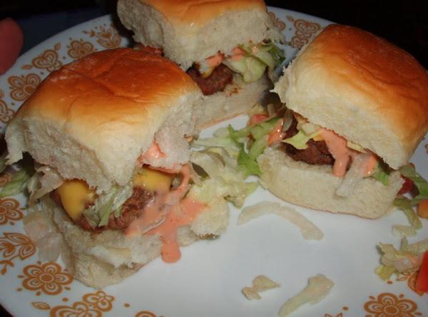 Mini Sliders Burgers And Special Sauce Recipe