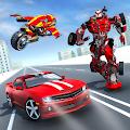 Moto Robot Transformation: Flying Car Robot Games