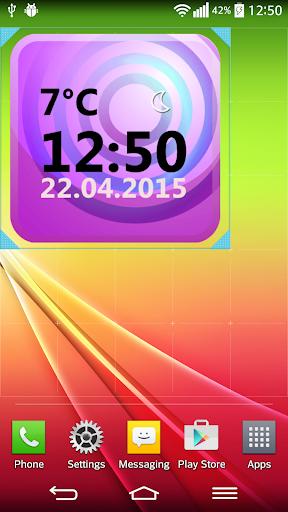 天気 時計