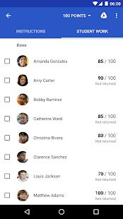 Google Classroom - náhled