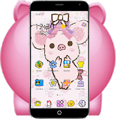 Pink Lovely Piggy Anime Theme