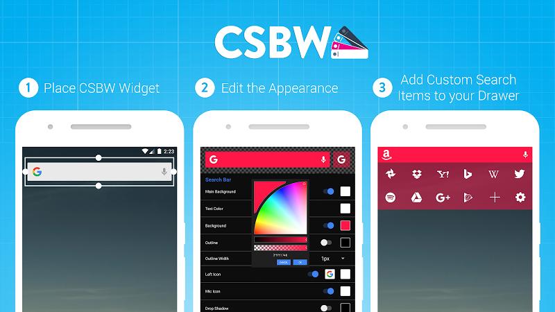 Custom Search Bar Widget CSBW Screenshot 8