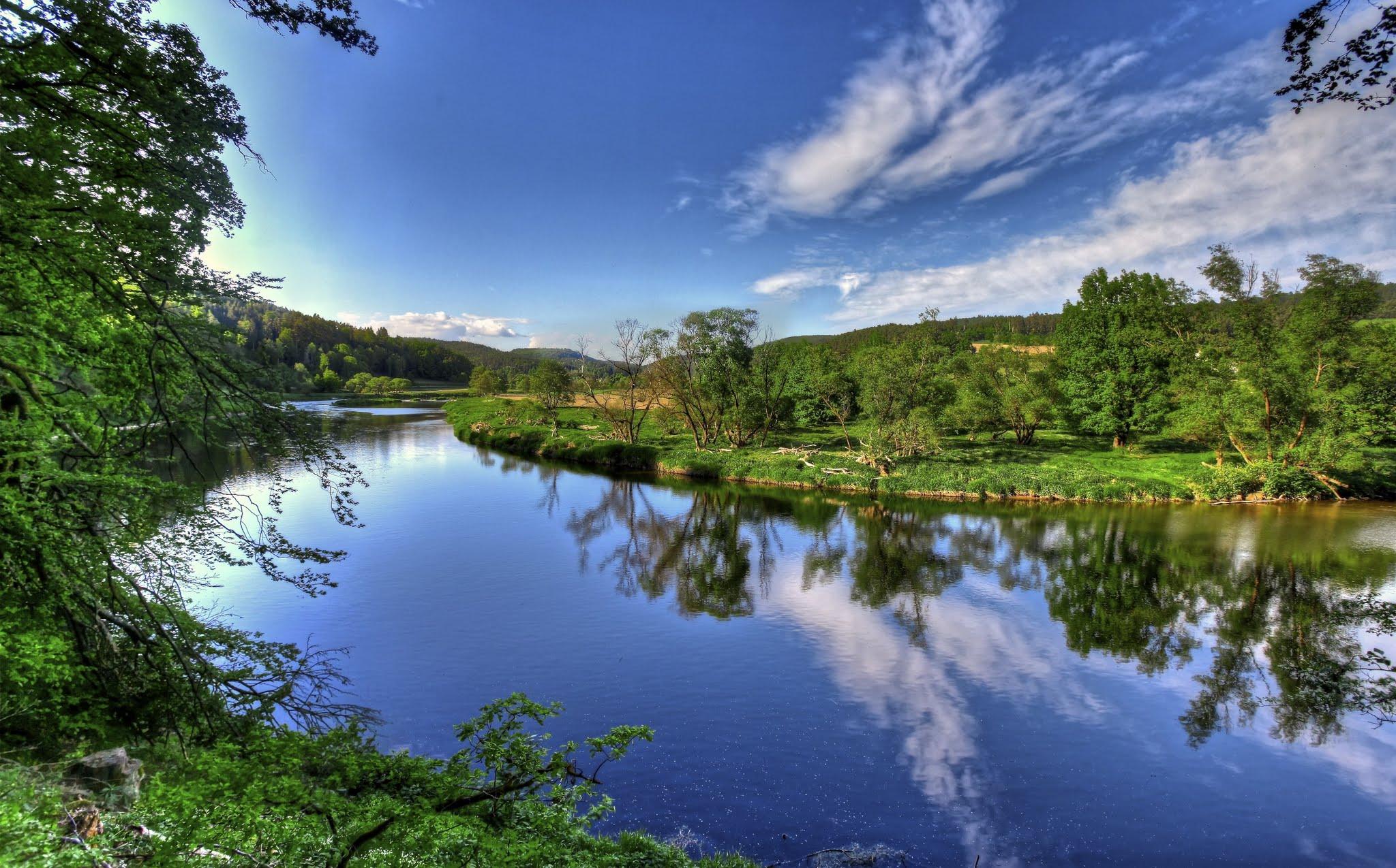 Photo: Landscape at the River Regen in Northern Bavaria