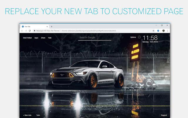 Ford Mustang Cars Wallpapers HD Custom NewTab