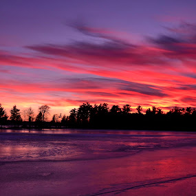 Fire and Ice by Mandy Schram - Landscapes Sunsets & Sunrises (  )