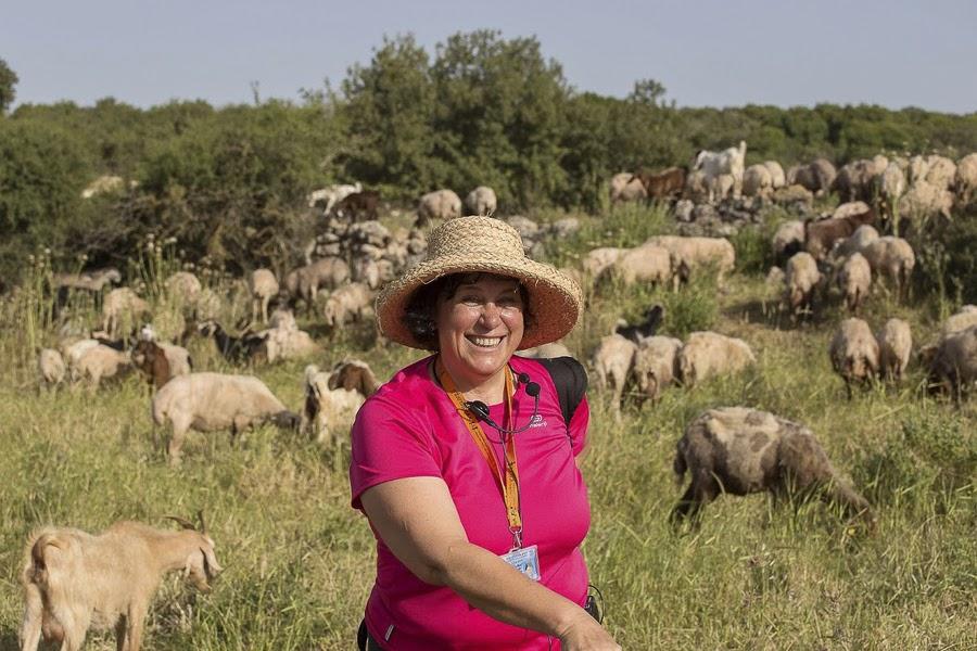 Гид в Израиле Светлана Фиалкова. На экскурсии в Хирват-Бургин, Иудия.