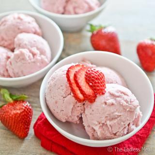 The Best Strawberry Ice Cream
