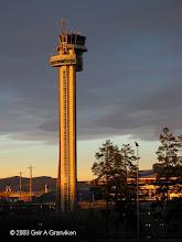 Photo: Gardermoen tower, Oslo Airport (OSL/ENGM) in the evening sun
