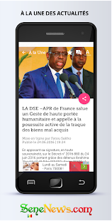 SeneNews : News in Senegal- screenshot thumbnail