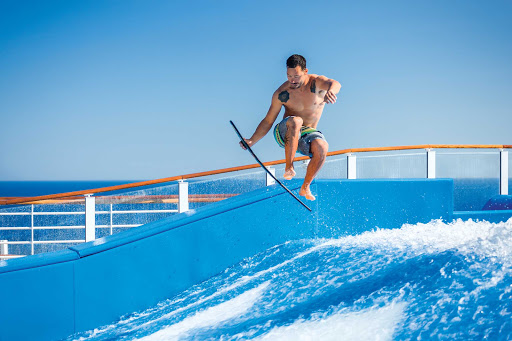 Harmony-of-the-Seas-instructor-flowrider3.jpg - Showing off some surfing skills on FlowRider aboard Harmony of the Seas.