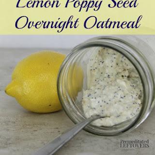 Lemon Poppy Seed Overnight Oatmeal