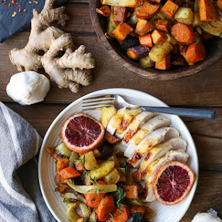 Orange Ginger Turmeric Whole Roast Chicken.