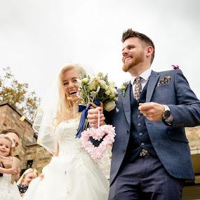 Happiness by Plamen Stanchev - Wedding Bride & Groom ( staines, wedding, photographer, registry, cambridge )