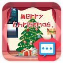 Christmas Night skin 2018 for Handcent Next SMS icon