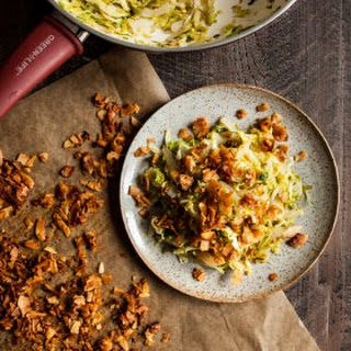 Brussels Sprout Hash with Coconut Bacon