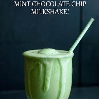 Skinny Mint Chocolate Chip Milkshake! {Trim Healthy Mama S or FP}