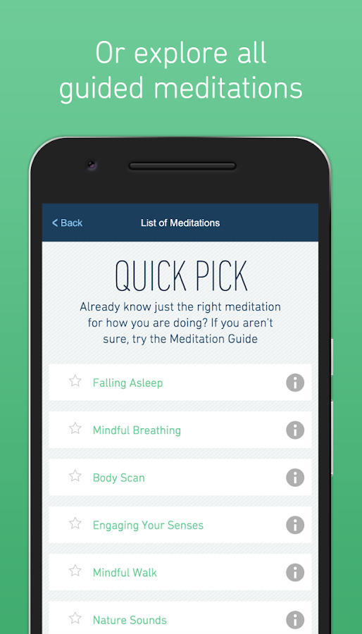 Stop Breathe & Think: Meditate- screenshot