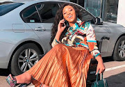 Sbahle Mpisane is living her life like it's golden.