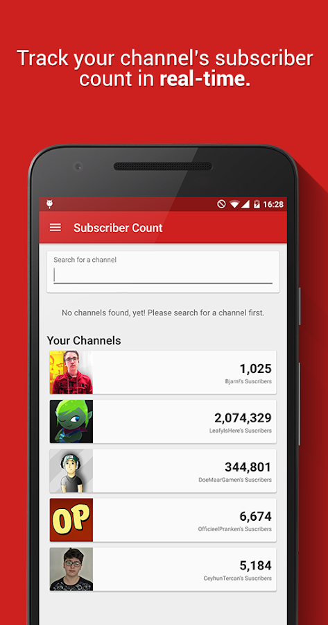 Realtime Subscriber Count- screenshot