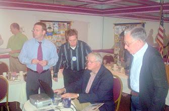 Photo: Morgan Gilreath with Dustin, Chris, and Bill   3-11-08