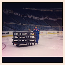 Photo: Jack Capuano helps break down the risers.