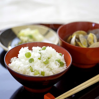 Cooked Rice with Green Pea
