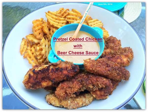 Pretzel-coated Chicken W/beer Cheese Sauce Recipe