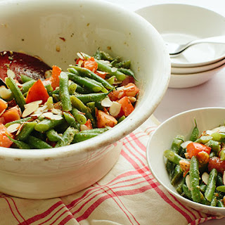 Backyard Farms Tomatoes on the Vine and Green Bean Summer Salad