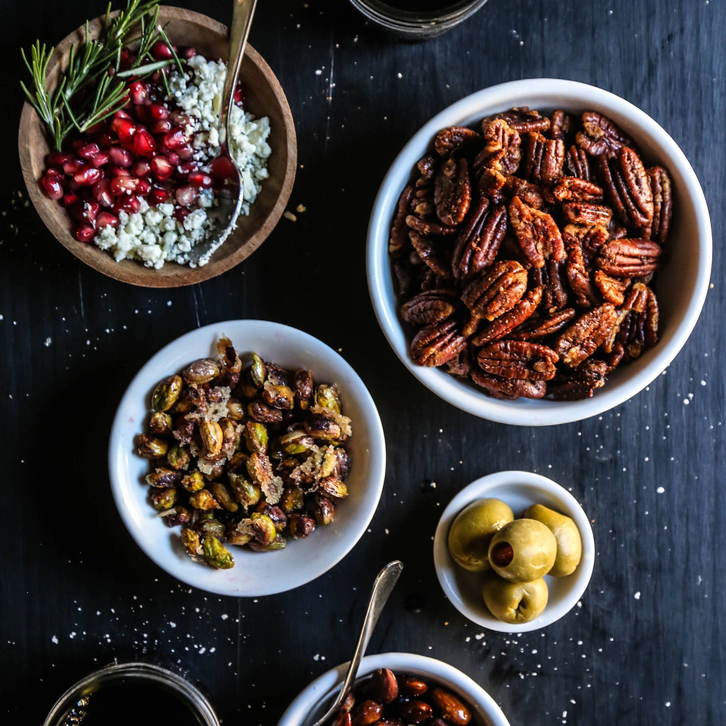 Holiday Party Nuts 3 Ways