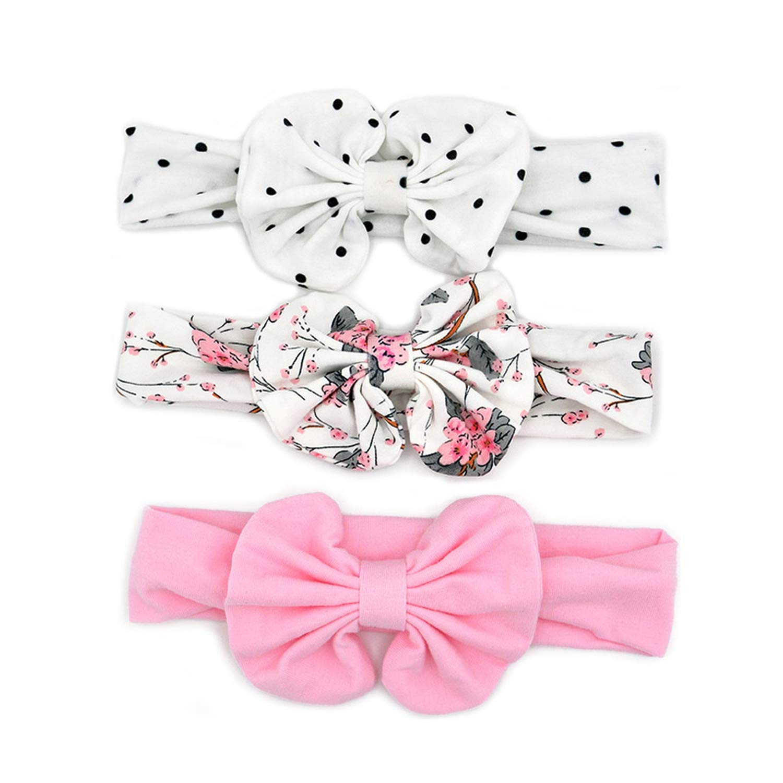 Floral Bows Baby Headband