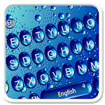 Blue glass Waterdrop Keyboard Theme Icon
