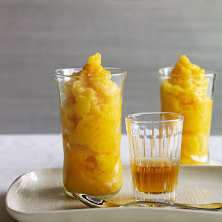 Mango Slushies With Rum And Mint.