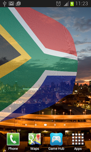 South Africa Flag LWP