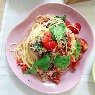 Cold Pasta of Tomato and Crab Meat